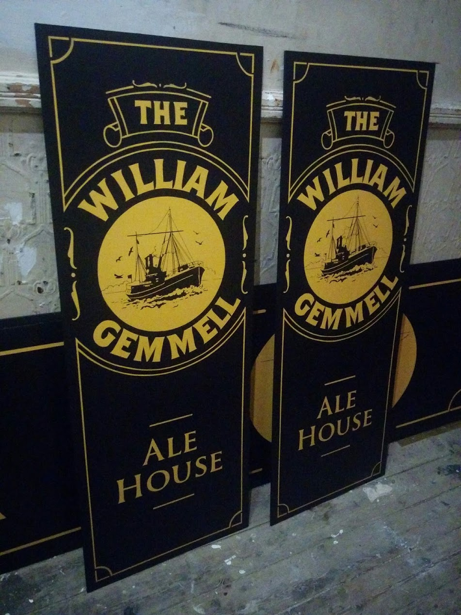 Pub Signwriting Hull - The William Gemmell Ale House